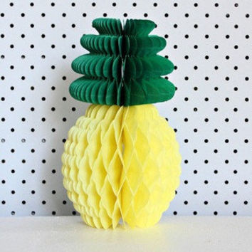 Summe Party Pineapple Shape Honeycomb Decoration Pineapple Garland Table Centerpiece Honeycomb Paper Fruit BEACH POOL LUAU PARTY