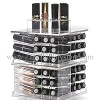 Zahra Beauty Spinning Lipstick Tower- Vitreous - The Best Lipstick Holder- Holds 81 Lipsticks (Without Bling)