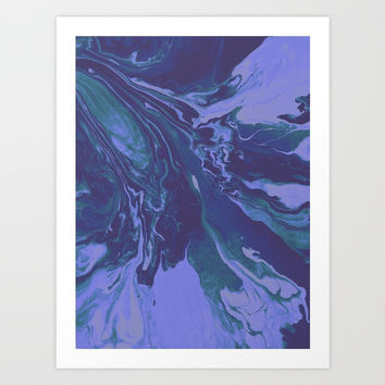 Mermaid Marble Art Print by duckyb