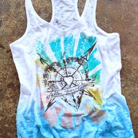 FOLLOW YOUR HEART OMBRE TANK - Junk GYpSy co.