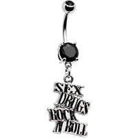 Sex Drugs and Rock N Roll Belly Ring | Body Candy Body Jewelry