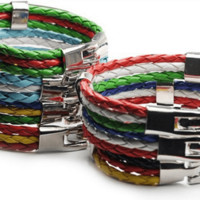 National Flag Bracelets (19 flags)