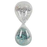 One Kings Lane - Chic Boutique - Mercury Glass Hourglass, Jade