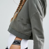 Hoxton Haus Khaki Crop Sweat