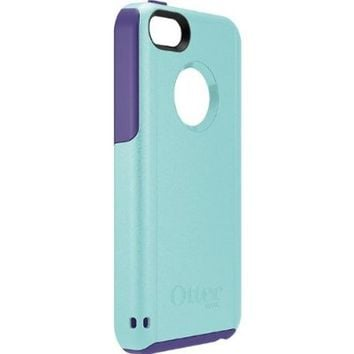 OtterBox Commuter Series iPhone 5c Case, Retail Packaging, Aqua Blue/Violet Purple