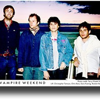 Vampire Weekend Poster Promo 11 X 17 Contra Mordern City Sea