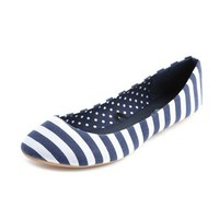 Striped Canvas Ballet Flat: Charlotte Russe