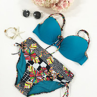 Cupshe Out of This World Flower Oversized Bikini Set