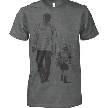 Dad And Son Drawing Shirt for Men, Father's Day Gift For Dad, Men's Tops