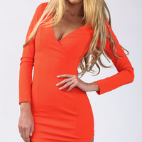 Girl on Fire Dress in Orange - Popcherry