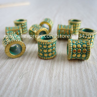 Free shipping 10Pcs/Lot hair braid dread dreadlock bead clip cuff approx 5.2mm hole