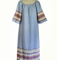 Hippie Boho Dress 70s Kaftan Dress Festival Dress Hippie Maxi Dress 70s Maxi Dress Festival Clothing Festival Clothes Bohemian Maxi Dress