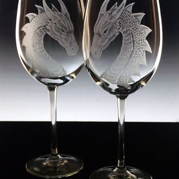 Wedding Gift Glasses Suggestions : ... glasses , Renissance wedding, fantasy dragon gift gift ideas blue