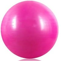 Pink 65cm ANTI BURST GYM EXERCISE SWISS YOGA FITNESS BALL for PREGNANCY BIRTHING, etc (including pump)