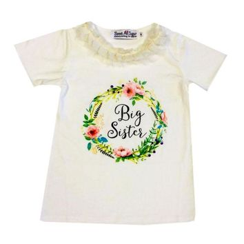 Sweet As Sugar Couture Big Sister Ivory Shirt
