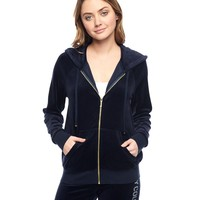 Logo Velour Juicy Stacked Relaxed Jacket by Juicy Couture