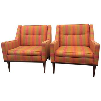 Pre-owned Milo Baughman Mid-Century Modern Chairs - A Pair
