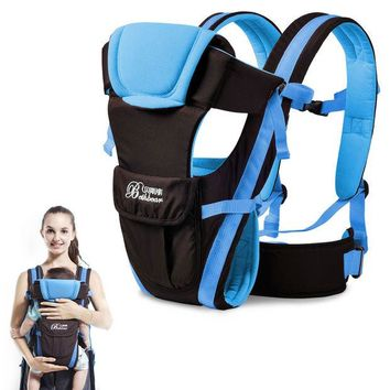 DCCKWQA Ergonomic Baby Carrier Backpacks&Carriers Breathable Multifunctional Front Facing Infant Sling Backpack Pouch Wrap Baby Kangaroo