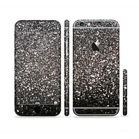The Black Unfocused Sparkle Sectioned Skin Series for the Apple iPhone 6