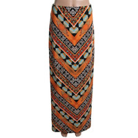 ECI New York Womens Printed Long Maxi Skirt