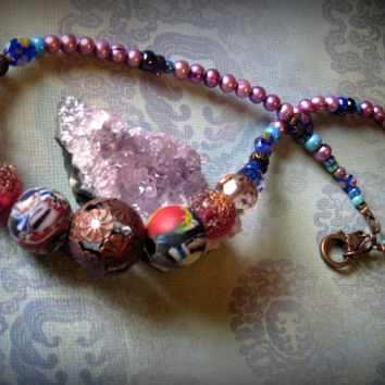 Rustic Glass Necklace