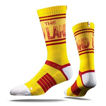 Strideline® 2.0 The Land Yellow Cleveland Cavaliers Gold–Red Crew Socks NEW