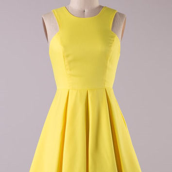 Dinner Party Dress - Yellow