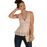 Pink Miss Pretty Peplum Top