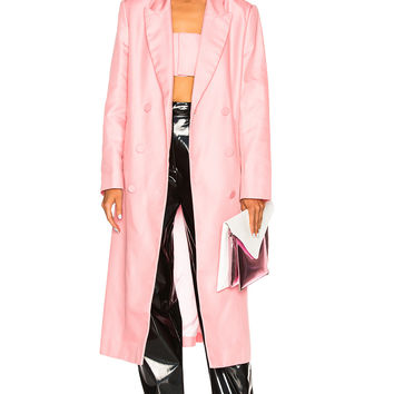 Helmut Lang x Shayne Oliver Double Breasted Coat in Perfect Pink | FWRD