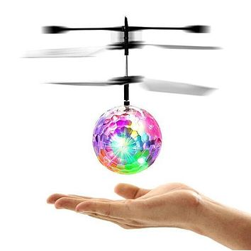 MJDTOYS X64 New Induction Fly Flash Ball Toys Remote Control RC Helicopter Flying Quadcopter Drone Kids Toy Fairy Doll Best Gift