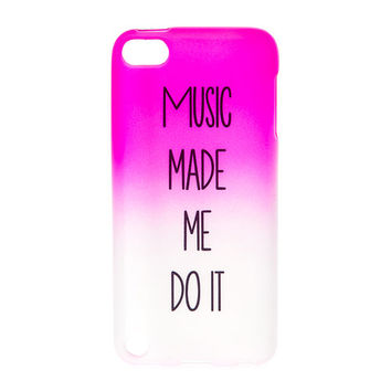 timeless design 55786 a19c4 Music Made Me Do It Soft Touch Cover for iPod Touch 5