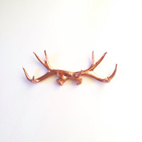 LITE BRONZE Faux Antler Rack wall hanging wall organizer / hat rack / sweater hanger / antler hook / fake antlers/  nursery wall decor  gift