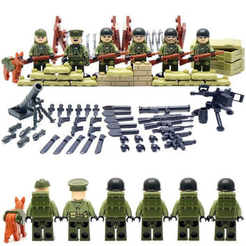 Band of Brothers World War Legoelied US Commando Army Gun Weapon CS SWAT Military Soldier Building Blocks Toy Gift