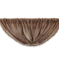 Tobacco Cloth Nutmeg Balloon Valance