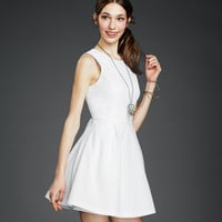 Solid Textured Graduation Dress