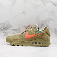 Off White X Nike Air Max 90 Desert Ore Shoes - Best Online Sale