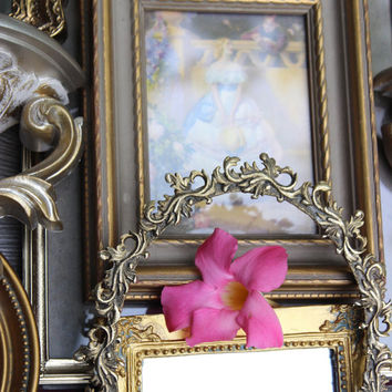 Ornate Gold Frames Vintage Gallery Collection With Burwood Mirrors , Home Interior , Cameo Creations Paris Apartment Decor