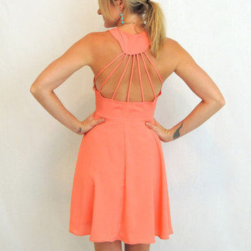 Ray Of Light Dress in Salmon -  $49.00 | Daily Chic Dresses | International Shipping