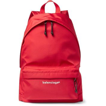 red classic ripstop backpack by balenciaga 2