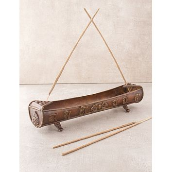 Sacred Mantra Incense Boat