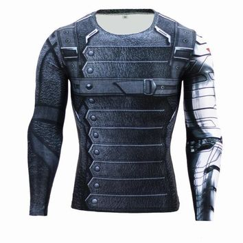 Superheroes Suit Compression Long Sleeve Shirts #wintersoldier