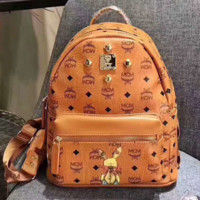 MCM Women Leather Casual Shoulder SchoolBag Satchel Handbag Backpack bag G-A-GHSY-1