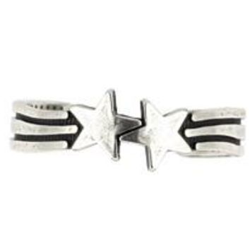 Sterling Silver Duo Star Adjustable Toe Ring 4MM (Made in USA)