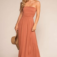Sunrise Pocket Maxi Dress - Peach