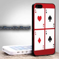 Amazing Card Poker Iphone 5, iPhone 4, or iPhone 4s Case Cover Plastic
