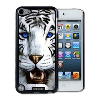 IPod 5 Touch Case Thinshell Case Protective IPod 5G Touch Case Shawnex Bengal Tiger Blue Eyed Royal White
