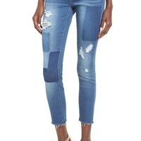Articles of Society Carly Crop Patchwork Skinny Jeans (Shadow) | Nordstrom