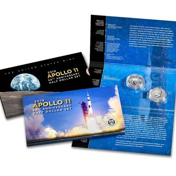 2019-S Apollo 11 50th Anniversary Proof Half Dollar Set