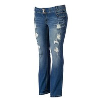 Amethyst 5-Pocket Bootcut Trumpet Jeans - Juniors' Plus, Size: