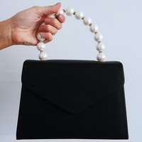 Enjoy The Little Things Purse: Black/Pearl